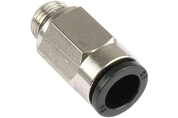 10mm G1/4 plug-in fitting black (nickel coated)