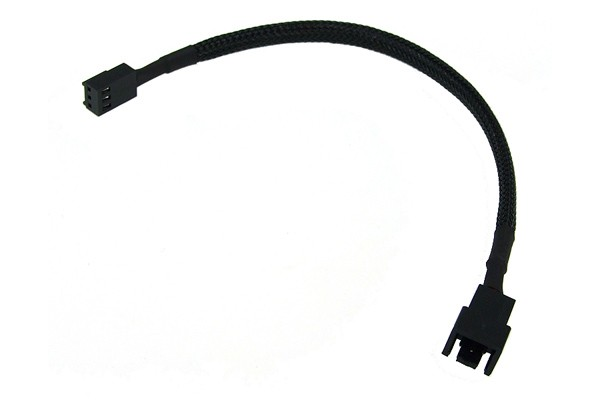 Phobya adaptor 3Pin (12V) to 3Pin (7V) 20cm - black