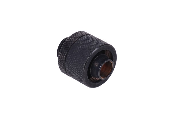 16/10mm compression fitting G1/4 - knurled - matte black