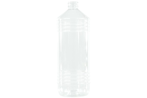 Bottle 1000ml PET clear round