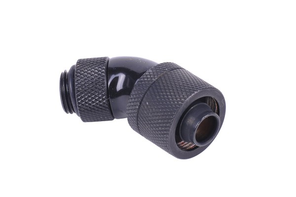 Alphacool 16/10 compression fitting 45° revolvable G1/4 - deep black
