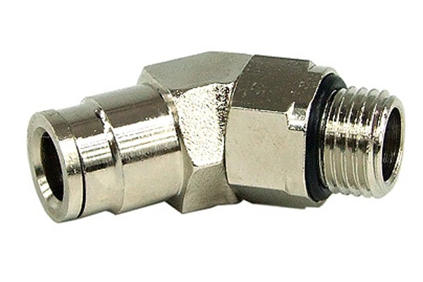8mm G1/4 plug-in fitting 45° revolvable- completely nickel plated