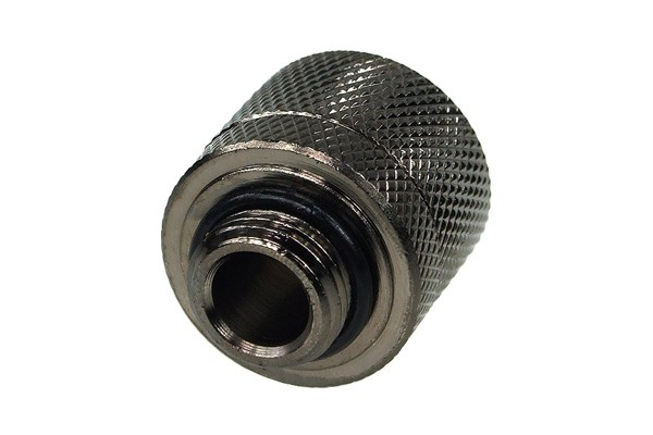"16/10mm compression fitting straight G1/4"" black nickel plated (ID 3/8"" OD 5/8"")"